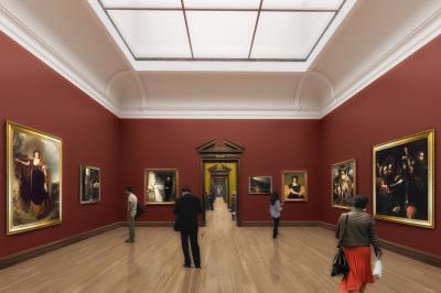 La Milltown gallery après travaux (image architecte).