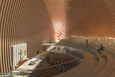 Inside the new cathedral.