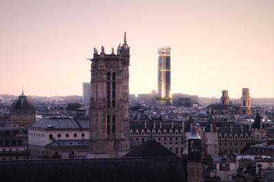 Vue depuis le toit du Centre Pompidou. Crédit image : Nouvelle AOM, Luxigon