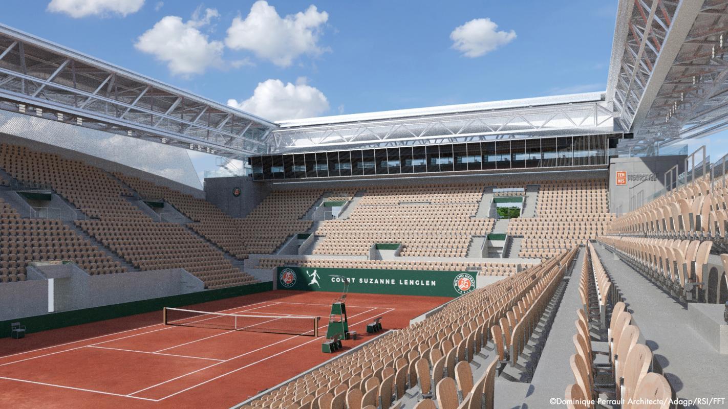 Le court Suzanne Lenglen représente la 2ème capacité du tournoi de Roland Garros avec une jauge de 10 000 spectateurs.