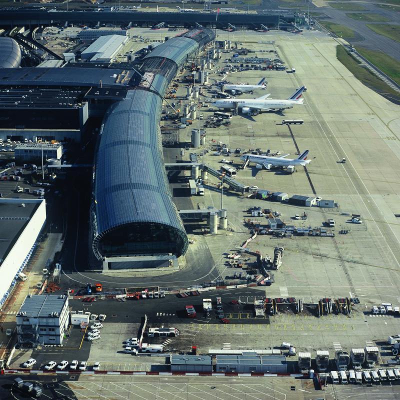 Vue aérienne du Terminal 2E.