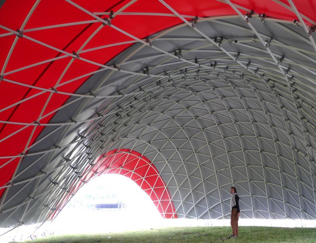 Vue de l'espace intérieur créé.