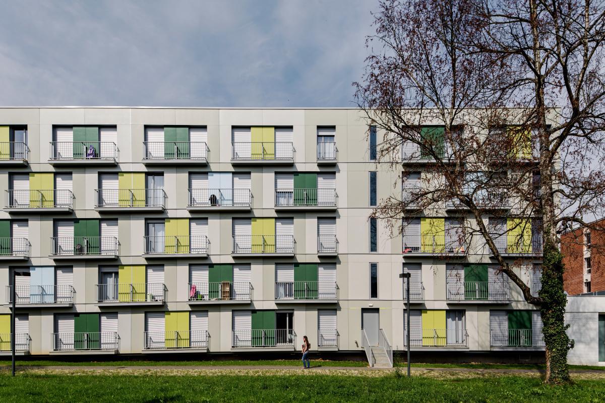 Elevation de la nouvelle façade.