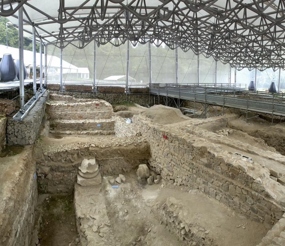 Site de fouilles en exploitation