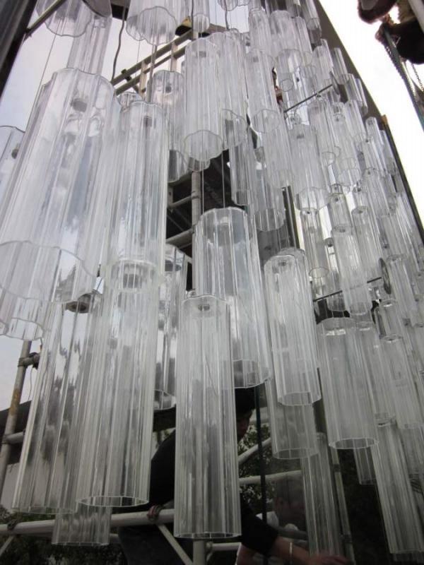 Luminaires en verre de Murano.