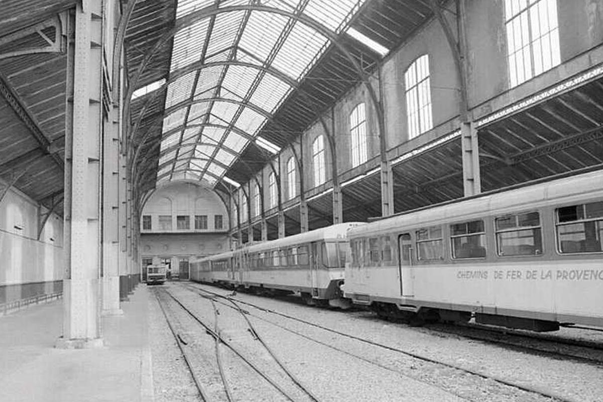 La gare du Sud de Nice en exploitation.