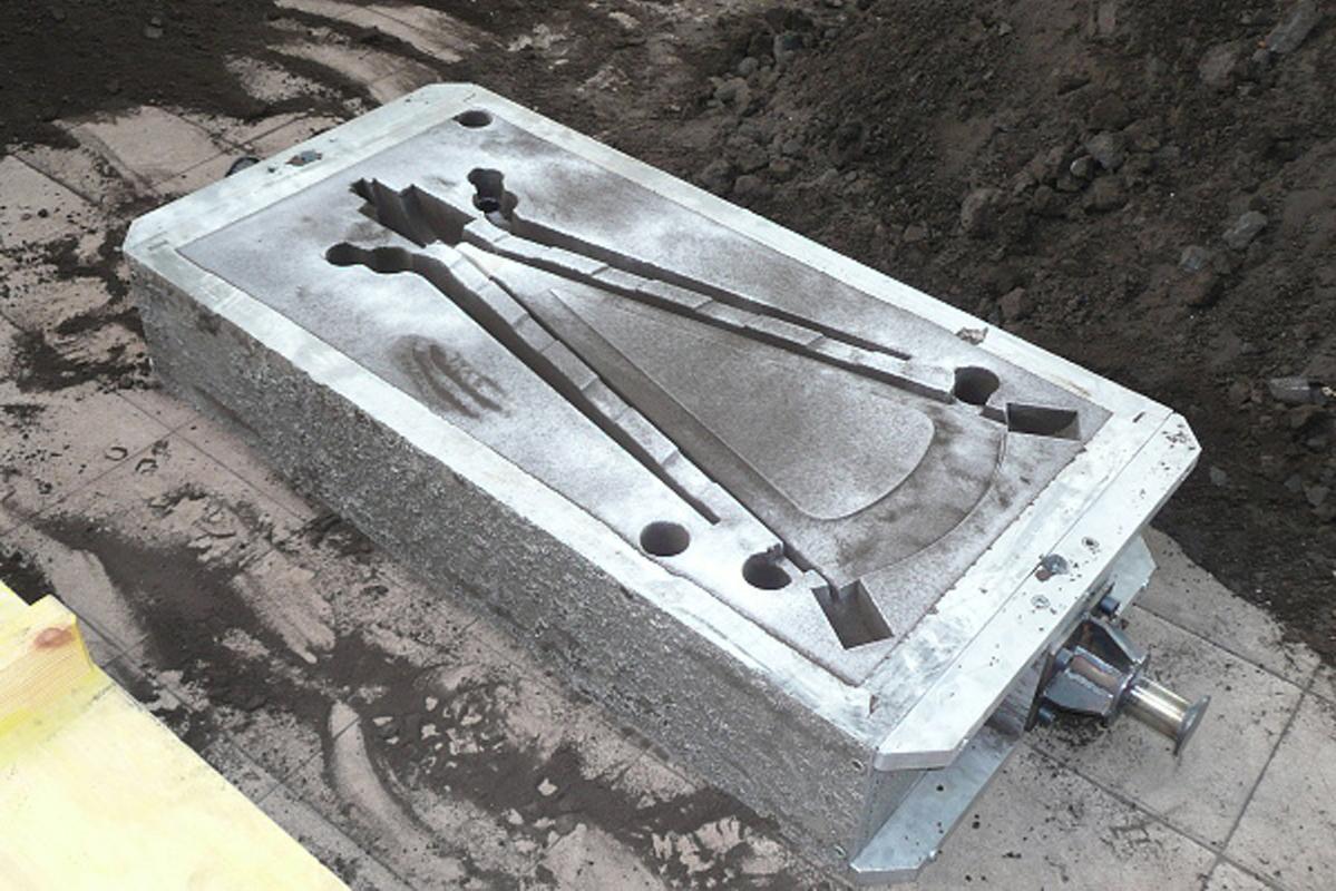 Moule des pièces en aluminium.