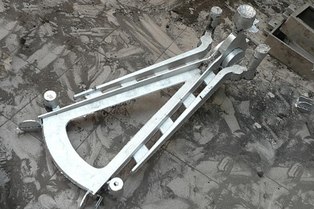 Moulage des pièces en aluminium.