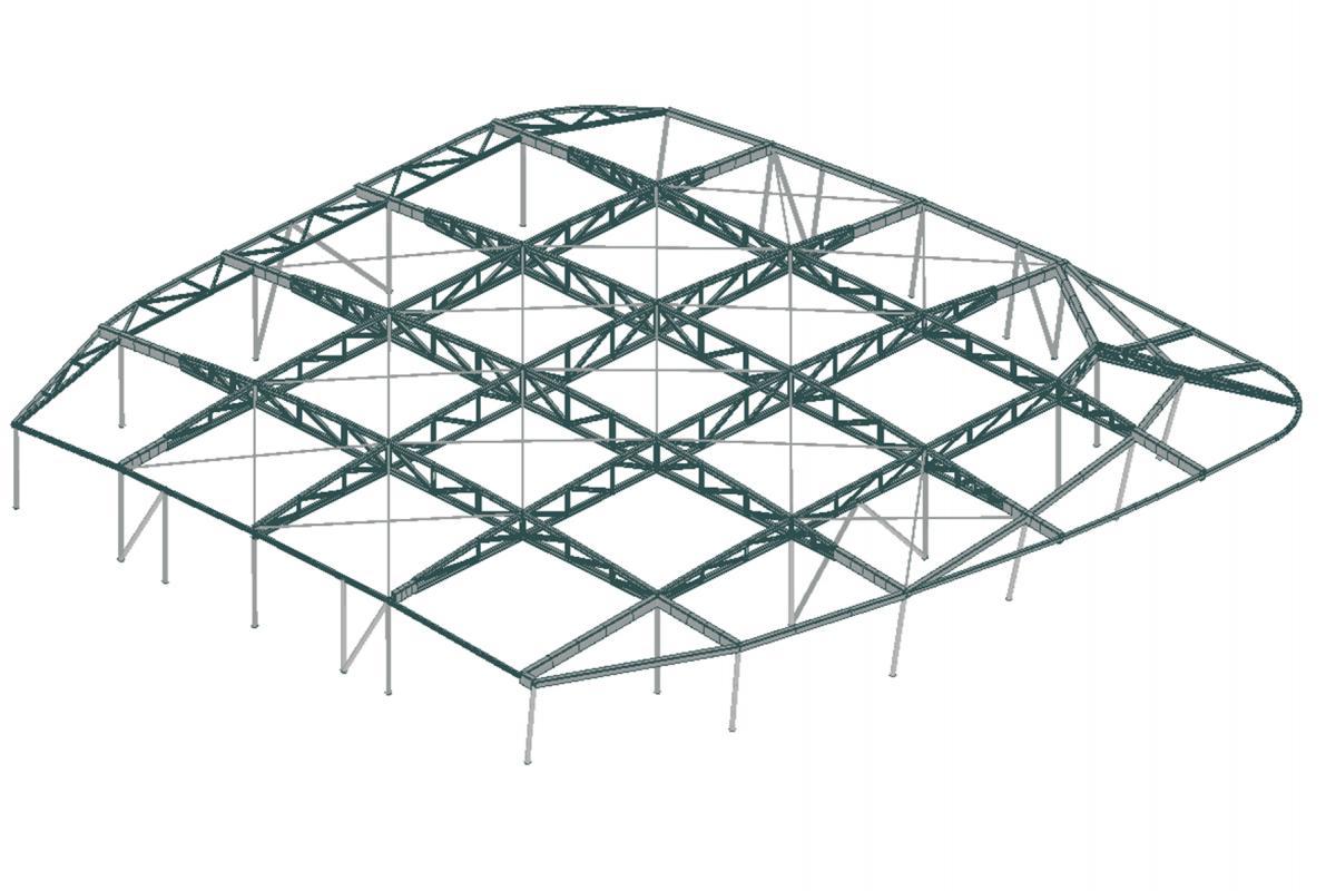 Modèle de la charpente métallique.