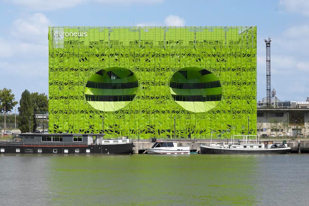 Le Pavillon vert, nouveau siège mondial d'Euronews.