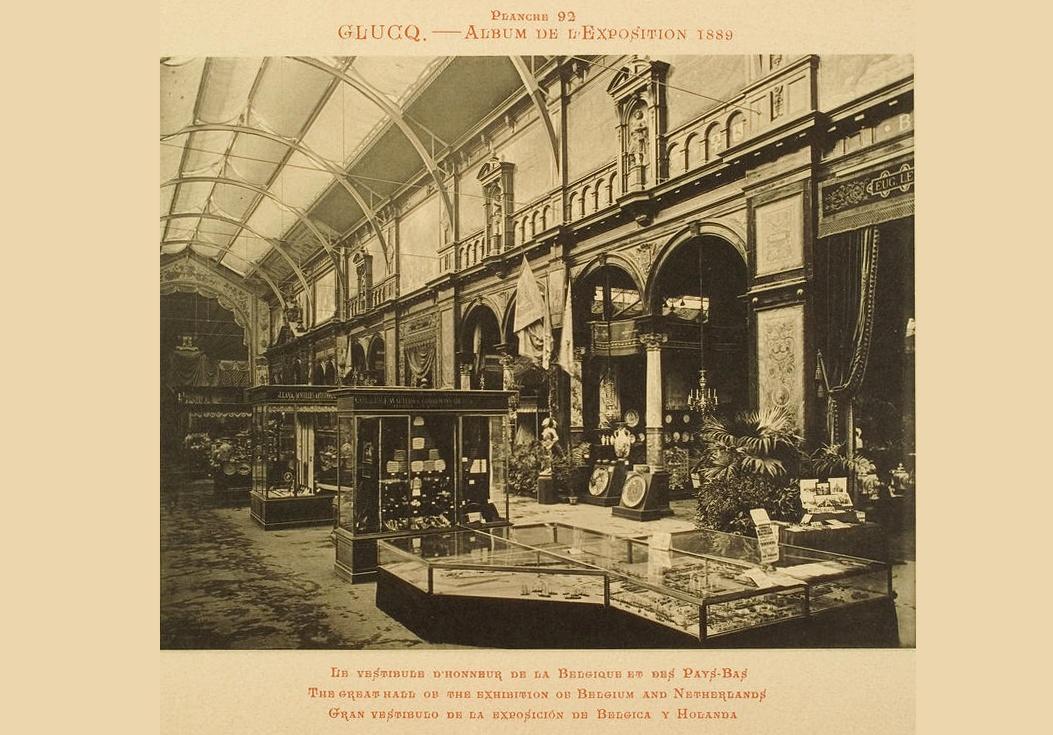 Carte postale de l'exposition Universelle de 1889.