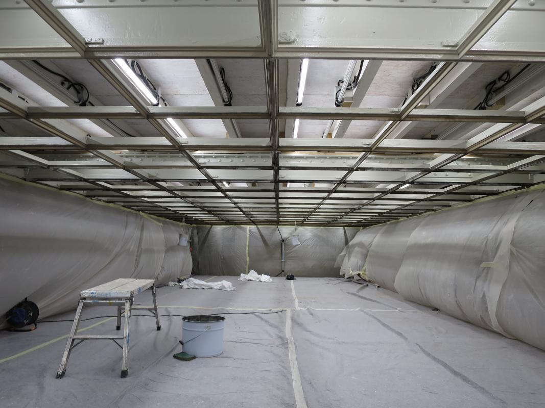 Restauration de la structure du plafond.