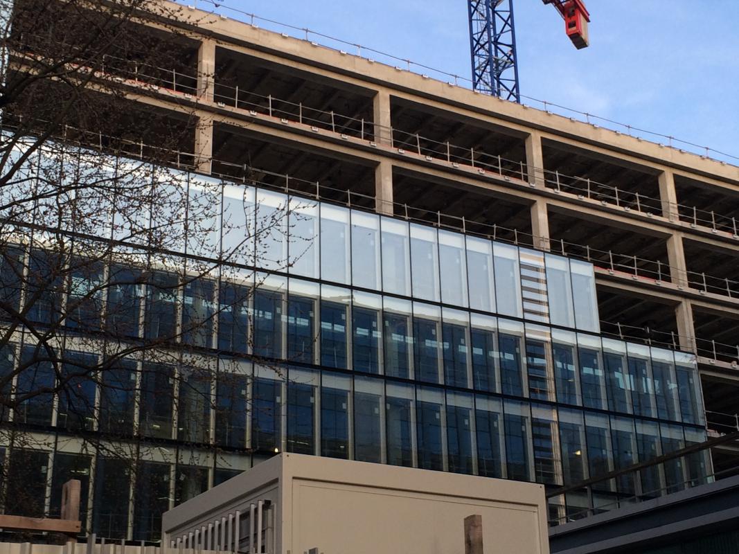 Montage des façades blocs.