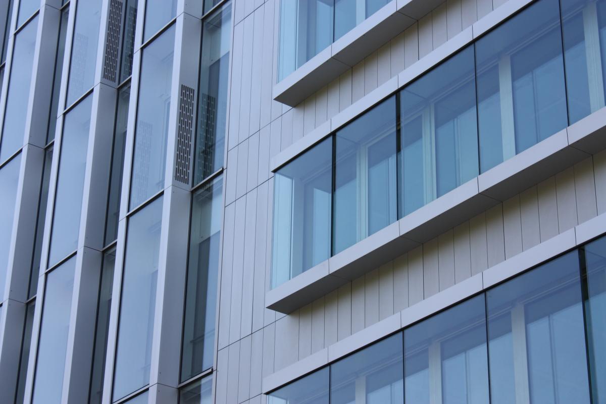 Deux types de façades sont posés: vertical et horizontal.