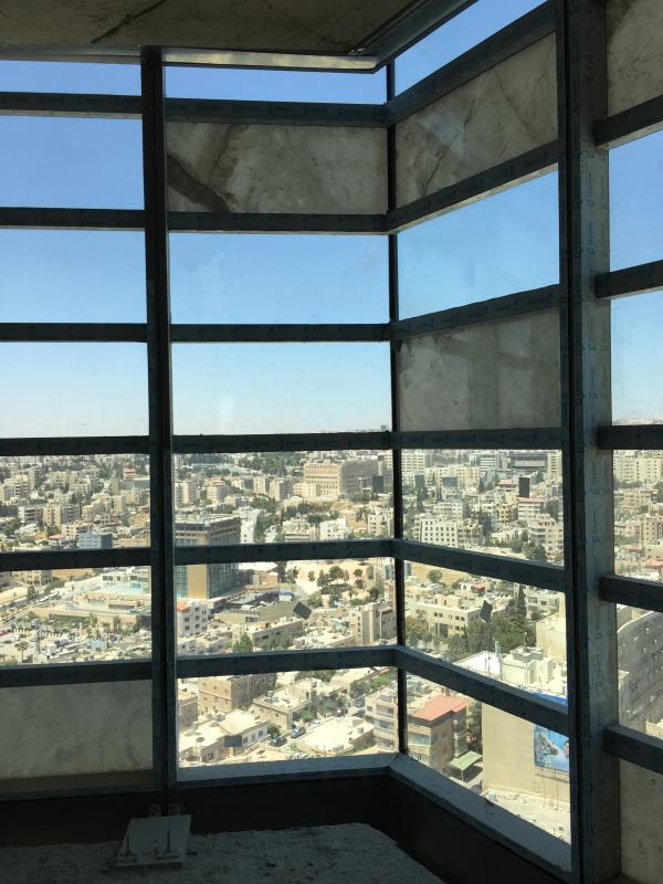 Vue depuis l'intérieur de la tour.