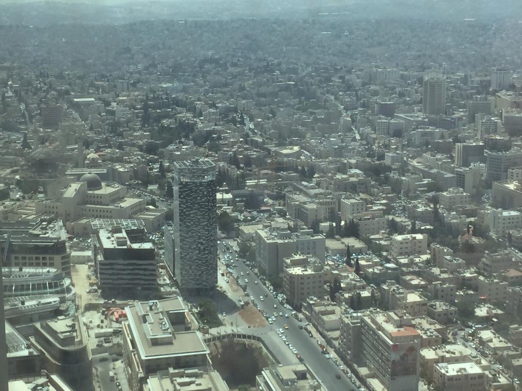 Tour Abdali dans son paysage urbain.