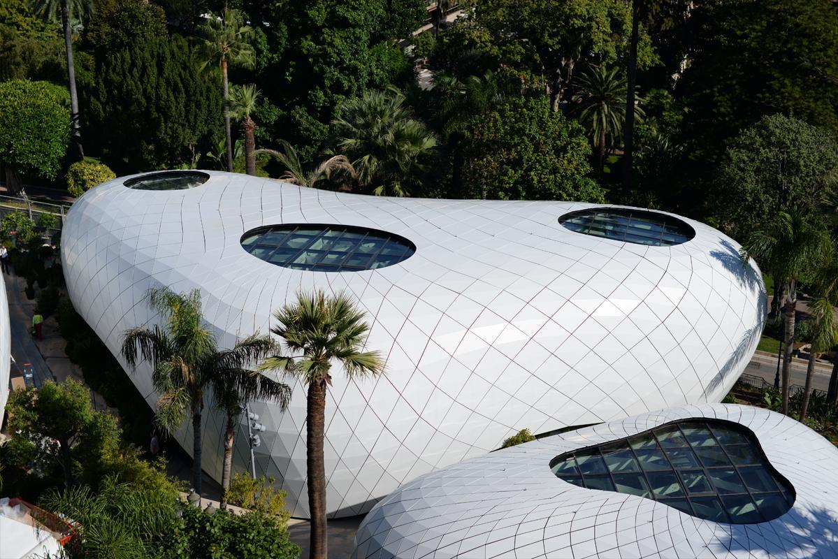 Un des pavillons éphémères de Monte-Carlo.