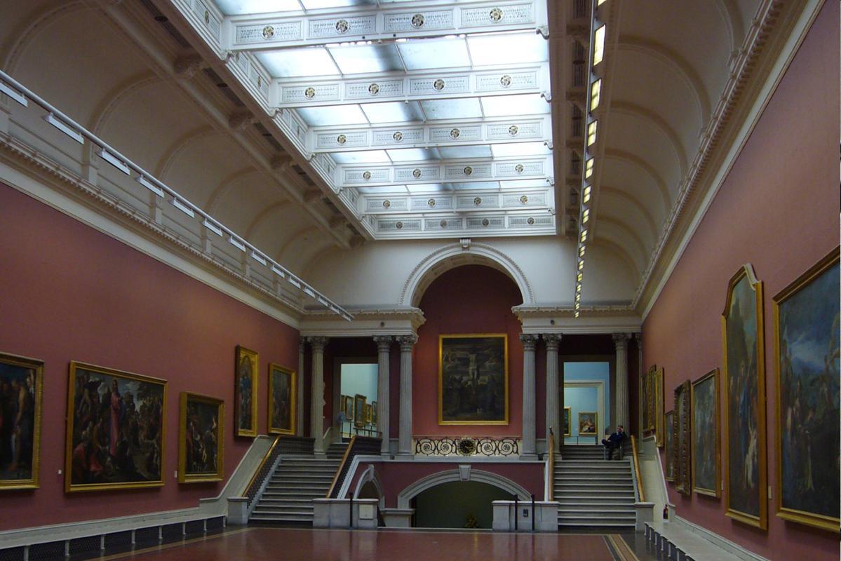 Intérieur de la galerie de Peinture de la Dargan Wing