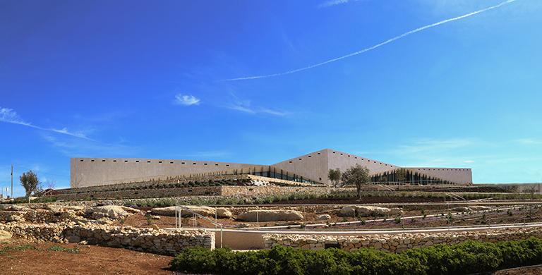 Le musée Palestinien au sommet de la colline de Bir-Zeit.