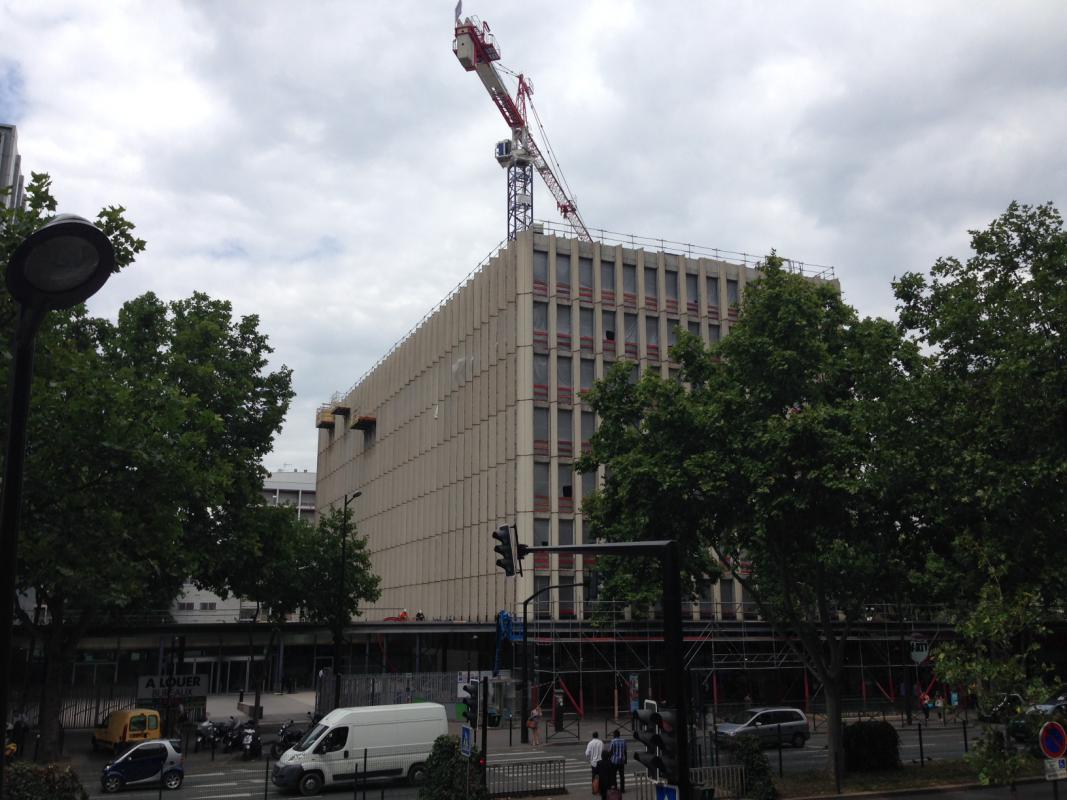Le bâtiment existant au démarrage des travaux.