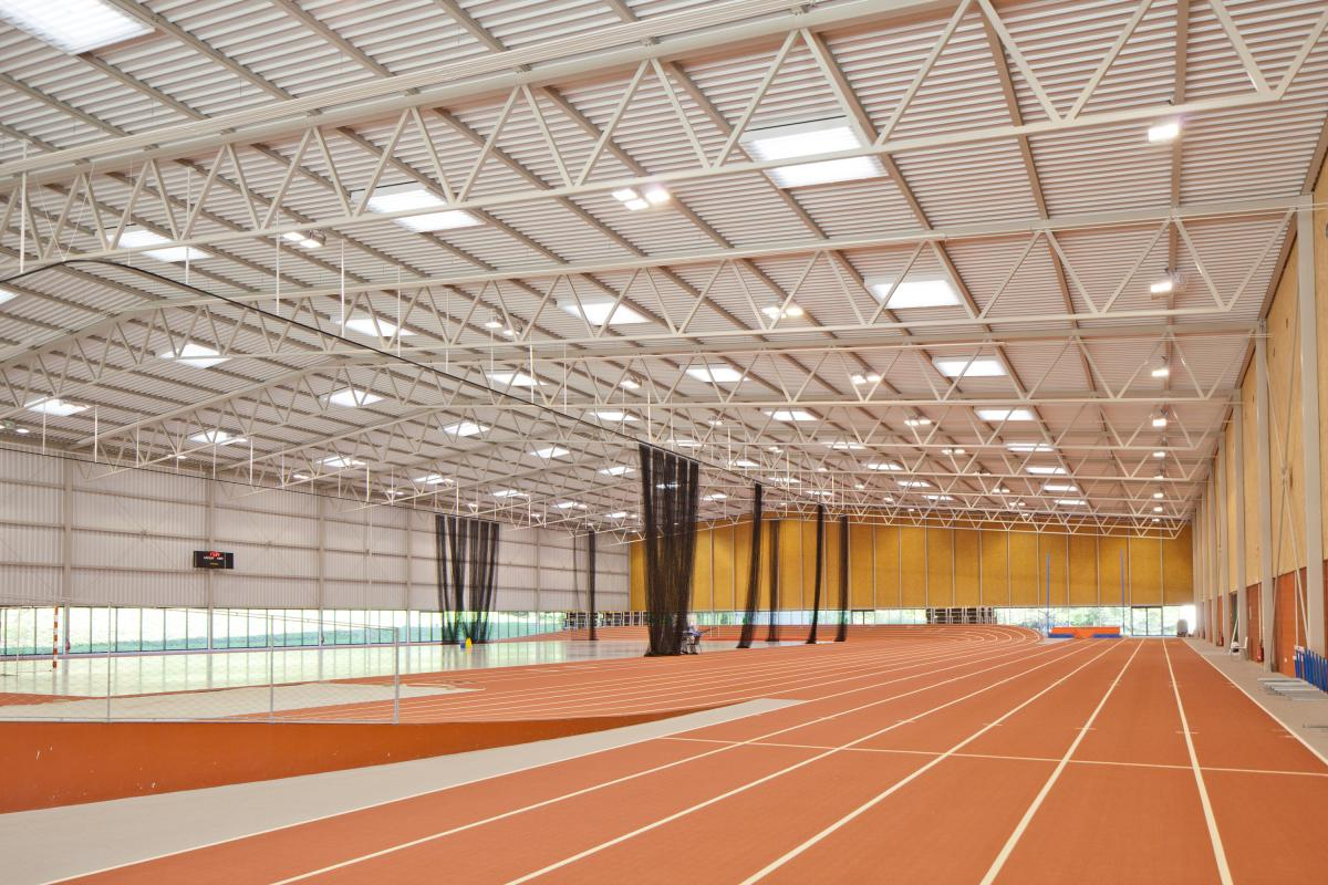 Intérieur de la halle athlétisme CNSD