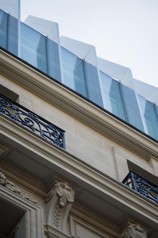 Détail verrière  immeuble 141, boulevard Haussmann