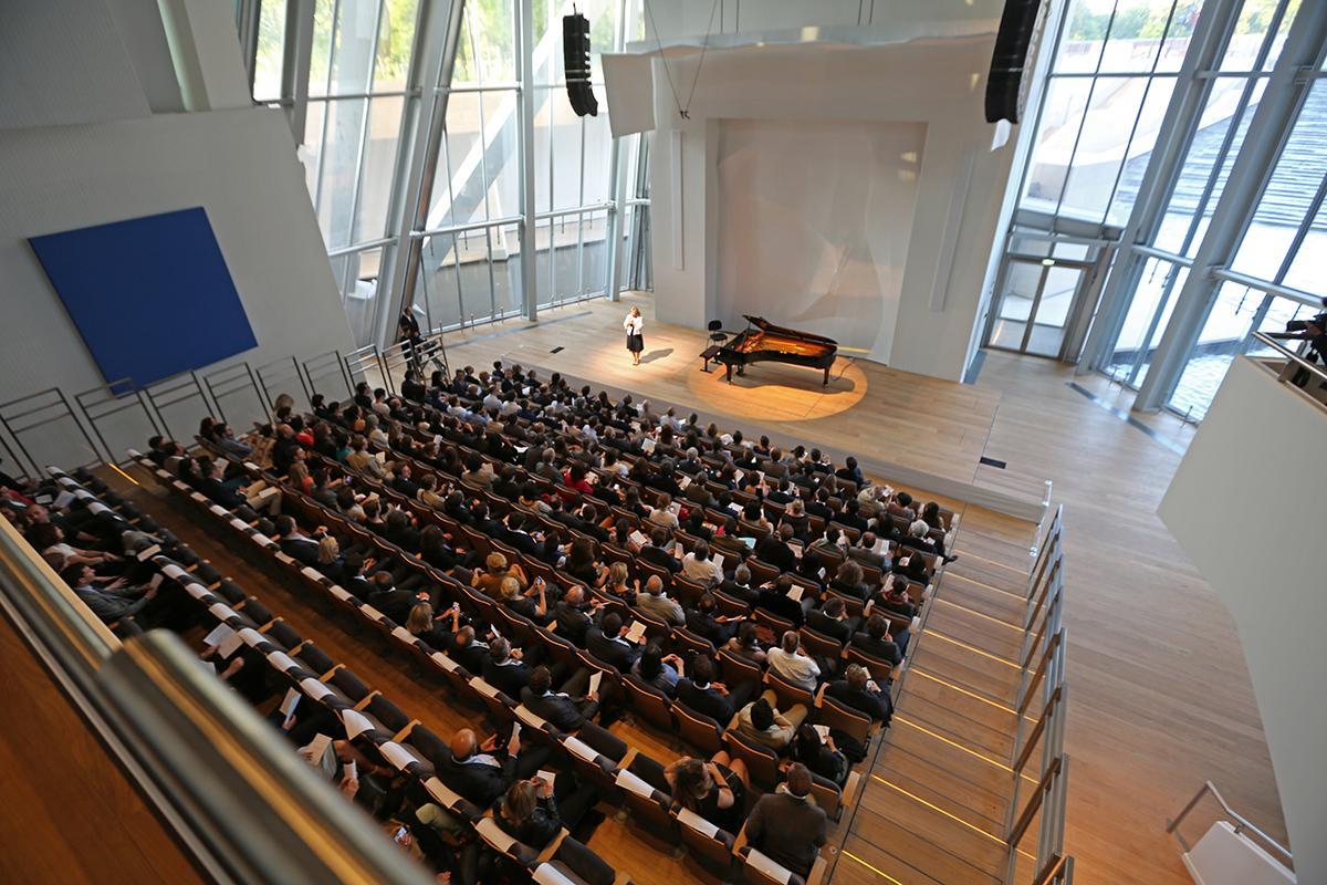 L'auditorium de la Fondation Louis Vuitton