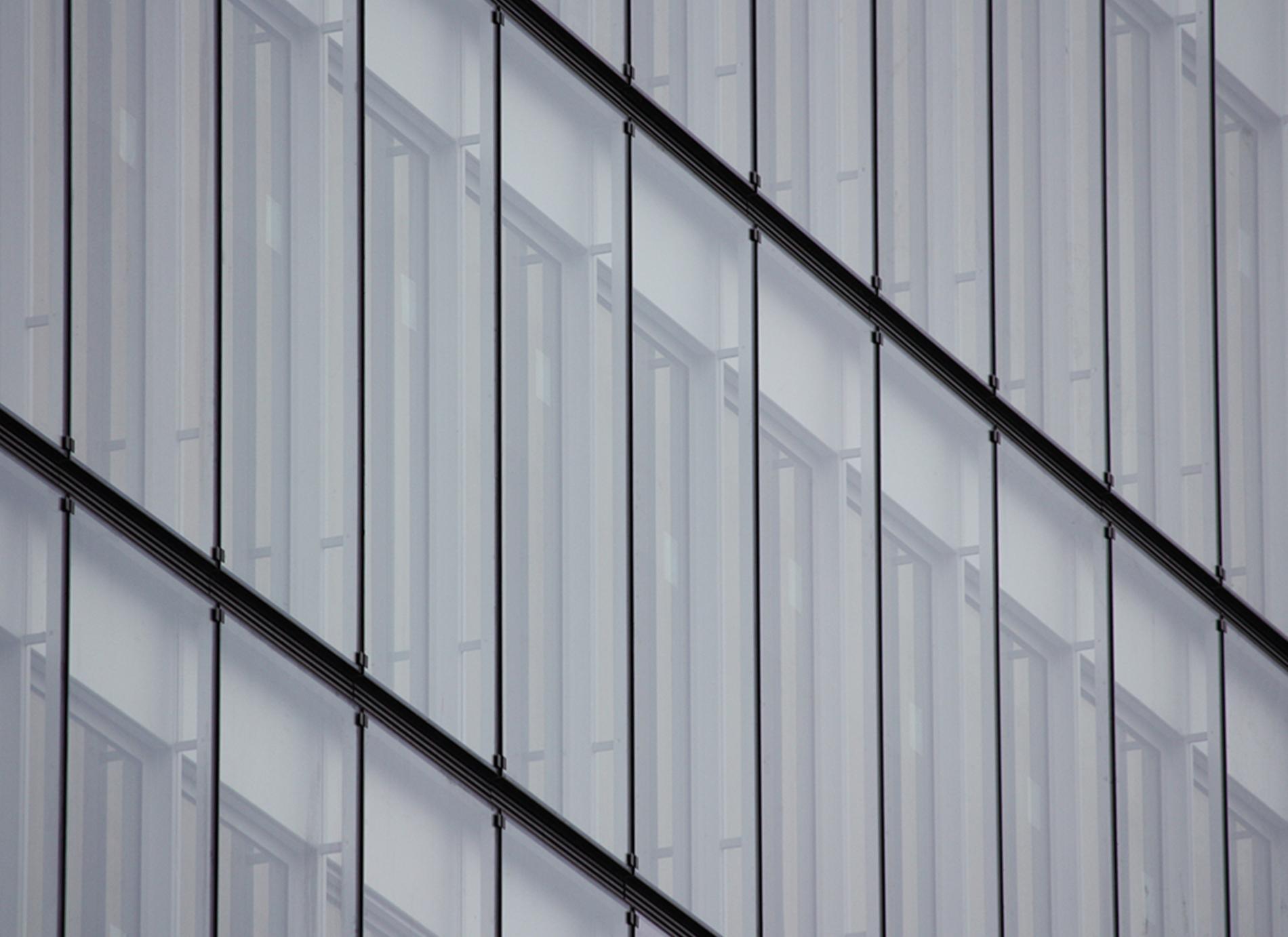 Façade double peau de l'immeuble du Cristallin à Boulogne-Billancourt.